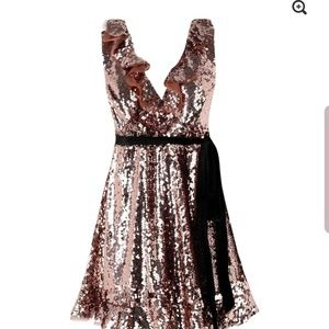 Free People Sequin Dress Open Back Costume